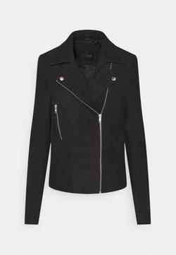 YAS Tall - YASSOPHIE JACKET - Leather jacket - black