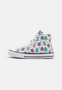Converse - CHUCK TAYLOR ALL STAR PLAYFUL PETALS UNISEX - Zapatillas altas - white/pixel purple/electric aqua