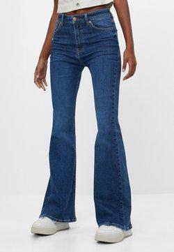 Bershka - Jean bootcut - blue