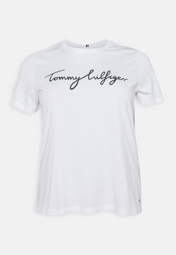 Tommy Hilfiger Curve - REGULAR GRAPHIC TEE - T-Shirt print - white