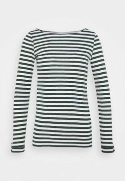 Esprit - STRIPE LONGSLEEVE - Langarmshirt - dark green