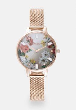 Olivia Burton - SPARKLE FLORAL - Zegarek - roségold-coloured