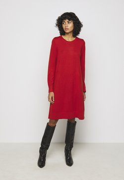 Repeat - CREW NECK DRESS - Vestido de punto - red