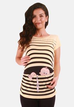 M.M.C. - BABY FLUCHT - T-Shirt print - gelb