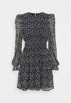Vero Moda - VMHIBISCUS SHORT DRESS - Freizeitkleid - navy blazer/liberty