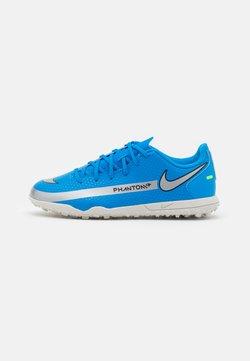 Nike Performance - JR PHANTOM GT CLUB TF UNISEX - Voetbalschoenen voor kunstgras - photo blue/metallic silver/rage green