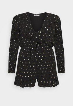Glamorous Curve - GOLD DOBBY GO PLAYSUIT - Jumpsuit - black/gold