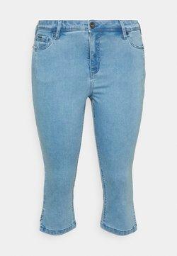 Zizzi - CAPRI - Farkkushortsit - light blue denim