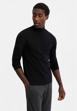 WE Fashion - MET OPSTAANDE BOORD - Strickpullover - black