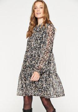 LolaLiza - SEE-THROUGH SLEEVED - Korte jurk - black beauty