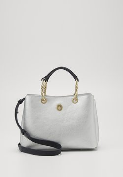 Tommy Hilfiger - CORE SATCHEL METALLIC - Handtasche - grey