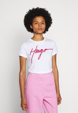 HUGO - THE SLIM TEE - T-Shirt print - white