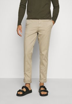 Selected Homme - SLHSTRAIGHT NEWPARIS FLEX PANTS - Chinos - greige