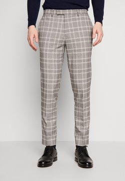 1904 - COOK POW CHECK - Suit trousers - grey