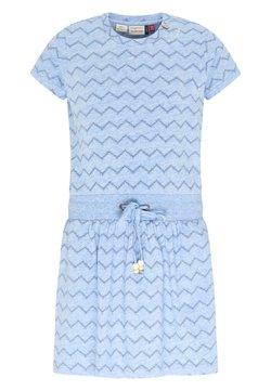 Ragwear - MAGY CHEVRON - Freizeitkleid - light blue