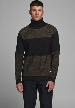 Jack & Jones - JCOTAYLOR ROLL NECK - Strickpullover - black