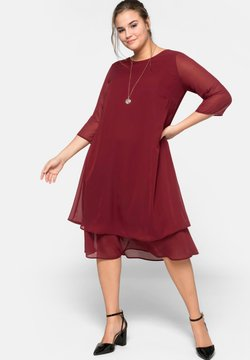 Sheego - Cocktailkleid/festliches Kleid - ruby red