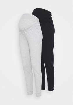 Anna Field MAMA - 2 PACK - REGULAR FIT JOGGERS - OVERBUMP - Jogginghose - black/grey