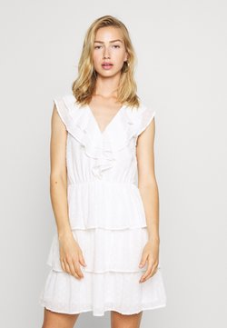 Nly by Nelly - SHEER FRILL DOBBY DRESS - Robe de soirée - white