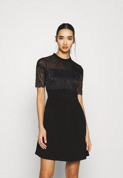 ONLY - ONLNIELLA MIX DRESS - Korte jurk - black