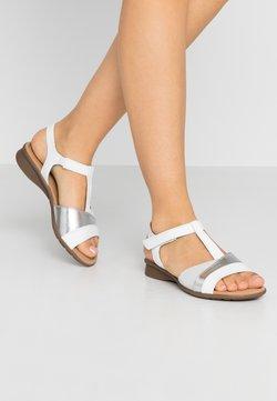 Gabor Comfort - Riemensandalette - weiß/silber