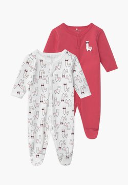 Name it - NBFNIGHTSUIT ALPACA 2 PACK - Grenouillère - claret red