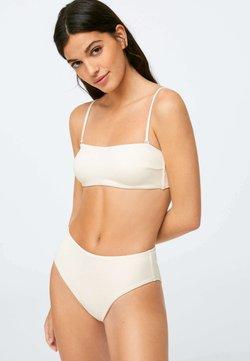 OYSHO - RIBBED - Bikinitop - white