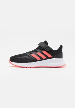 adidas Performance - RUNFALCON UNISEX - Neutral running shoes - core black/signal pink/footwear white