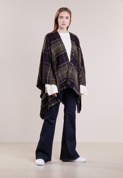 Barbour - STAFFIN TARTAN SERAPE  - Cape - olive