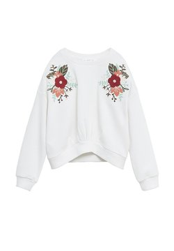 Mango - FLORI - Sweater - bianco sporco