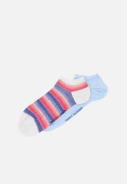 Tommy Hilfiger - WOMEN SNEAKER GRADIENT CHECK 2 PACK - Socken - blue