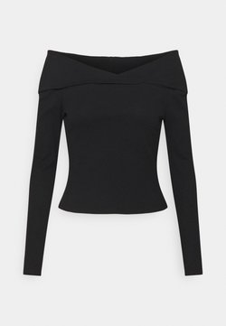 NU-IN - OFF-SHOULDER TOP - Langarmshirt - black