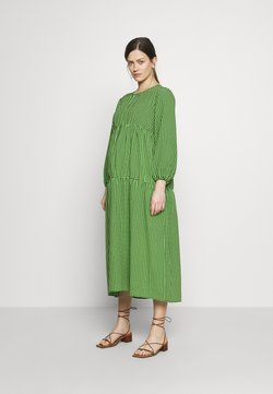 Topshop Maternity - SMOCK TIERED DRESS - Freizeitkleid - green/black