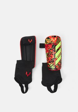 adidas Performance - MESSI UNISEX - Shin pads - black/shock yellow/solar red
