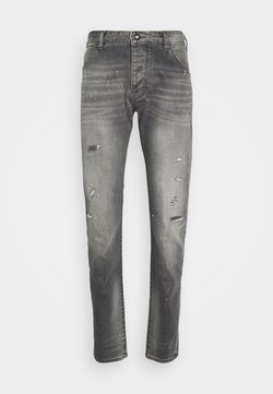 Emporio Armani - POCKETS PANT - Jeans Tapered Fit - grey