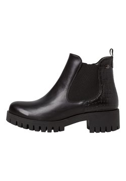 s.Oliver - CHELSEA BOOT - Ankle Boot - black/struct.