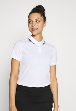 Nike Golf - DRY VICTORY - Funktionsshirt - white/black