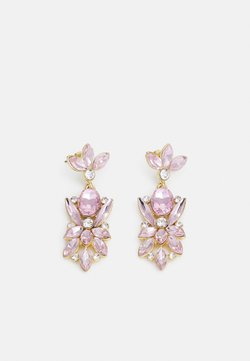 Pieces - PCLEONIA EARRINGS - Korvakorut - gold-coloured/rose/clear