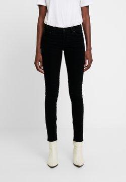 Nudie Jeans - SKINNY LIN - Tygbyxor - black