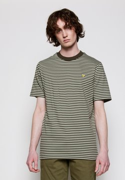 Lyle & Scott - ARCHIVE STRIPE RELAXED FIT - T-Shirt print - moss
