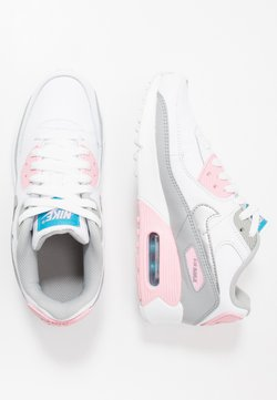 Nike Sportswear - AIR MAX 90 - Sneakers laag - light smoke grey/metallic silver/white/pink