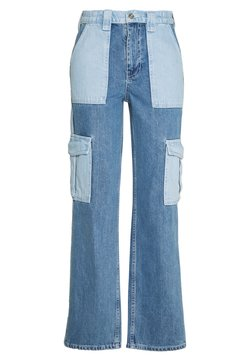 BDG Urban Outfitters - SKATE PATCHWORK - Relaxed fit -farkut - blue