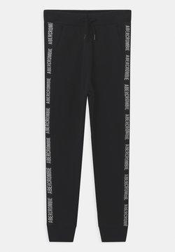 Abercrombie & Fitch - LOGO TAPE - Spodnie treningowe - black