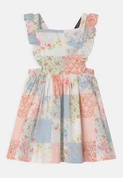 Polo Ralph Lauren - RUFFLE DRESS - Freizeitkleid - white/multicolour