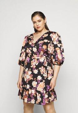 Vero Moda Curve - VMBELLA WRAP DRESS - Korte jurk - black