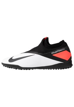 Nike Performance - PHANTOM VISION 2 ACADEMY DF TF - Astro turf trainers - white/black/laser crimson