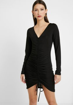 Nly by Nelly - DRAWSTRING SLINKY DRESS - Sukienka koktajlowa - black