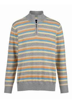 Babista - Strickpullover - grau,orange,blau