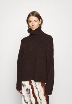 Vero Moda - VMDAISY COWLNECK - Stickad tröja - chocolate plum/melange