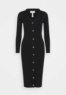 Object Petite - OBJFEATHER DRESS - Neulemekko - black